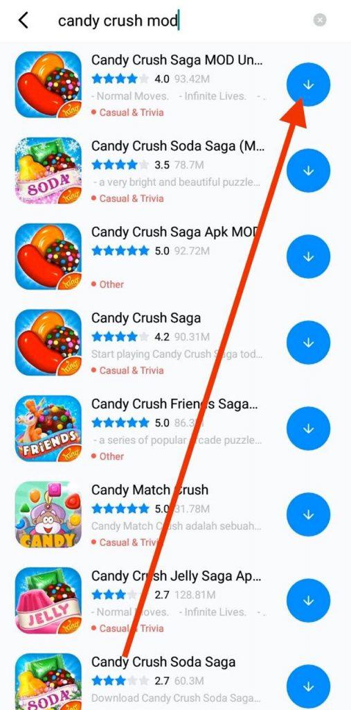 Download Candy Crush Saga MOD