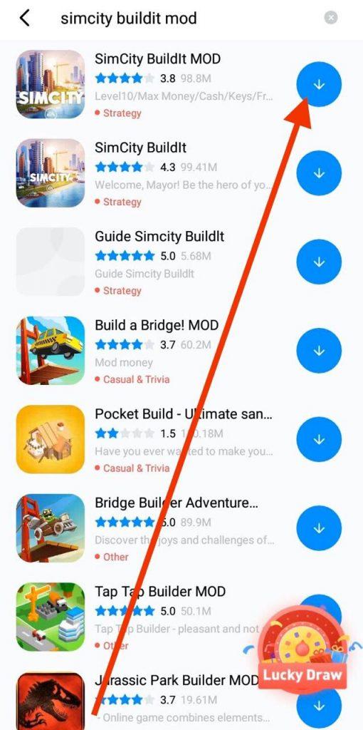 Install Simcity Buildit MOD APK