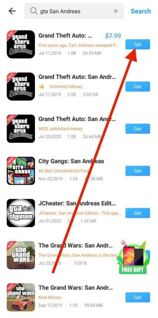 GTA San Andreas Free APK Download